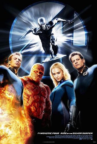 Uno de los carteles de Los 3 Fantásticos y Silver Surfer